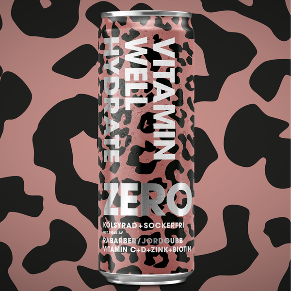 Zero Hydrate Rhubarb Strawberry - Vitamin Well