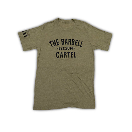 "T-shirt Homme ""Classic Logo Military Green "" - Barbell Cartel"